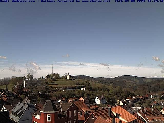 Webcam Skigebiet St. Andreasberg - Matthias-Schmidt-Berg Rathaus - Harz